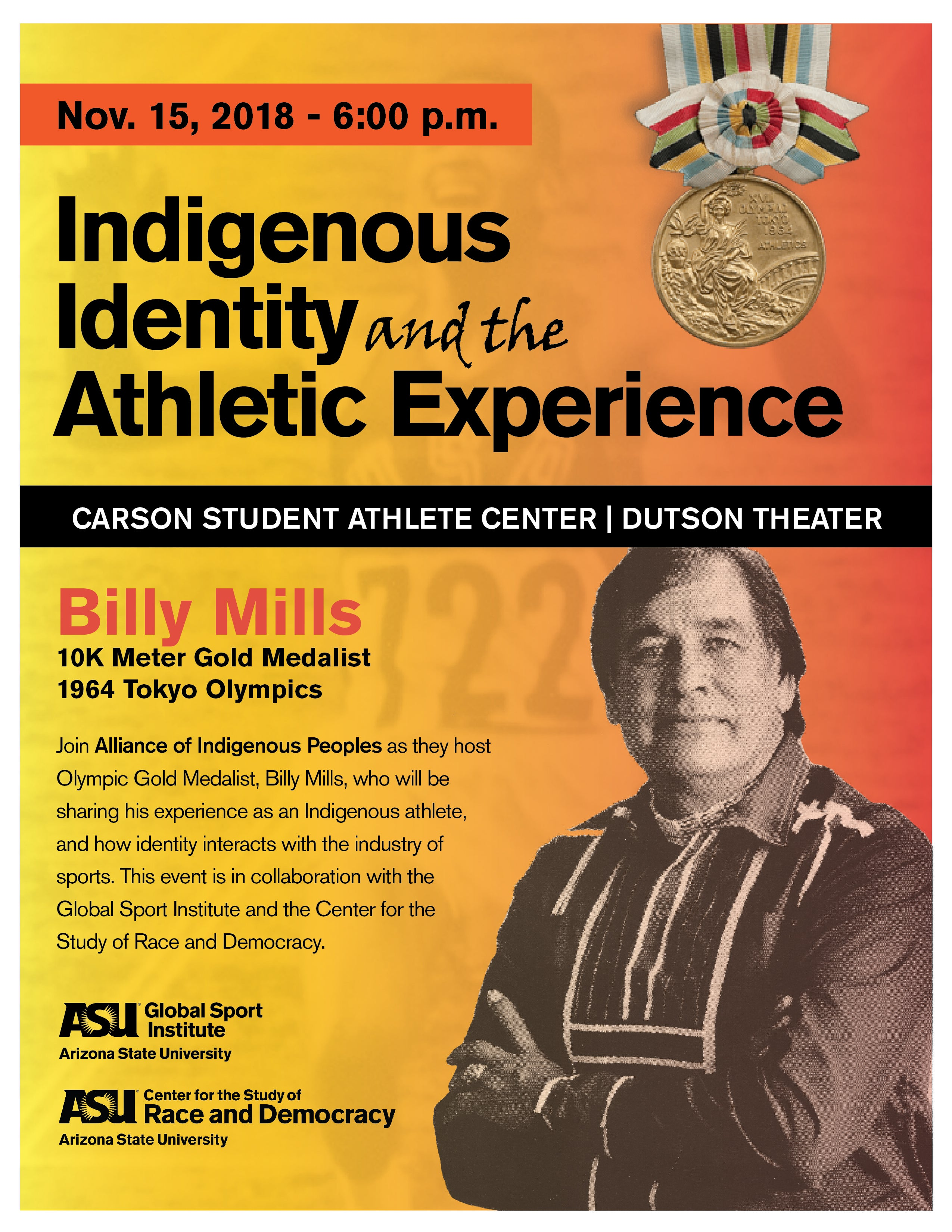 Indigenous Identity and the Athletic Experience with Billy Mills