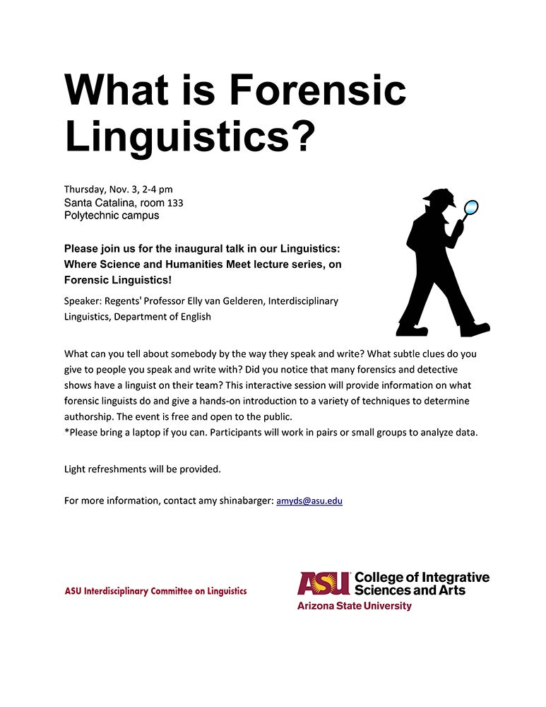What Is Forensic Linguistics College Of Integrative Sciences And Arts