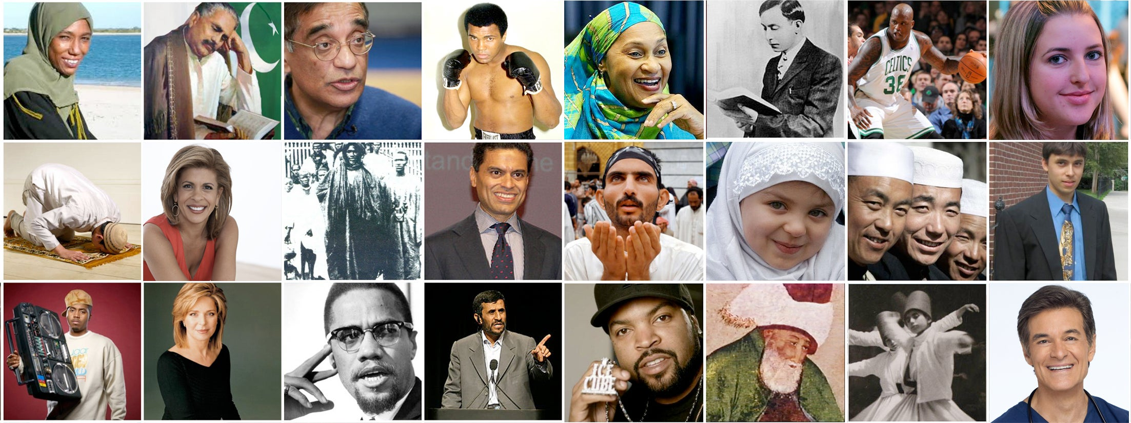 Collage of diverse Muslims