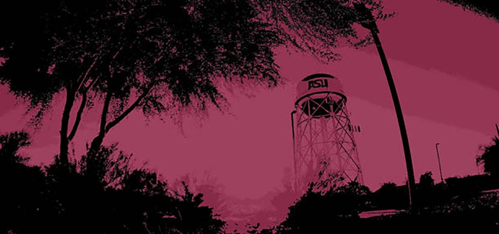 ASU Polytechnic campus watertower stylized