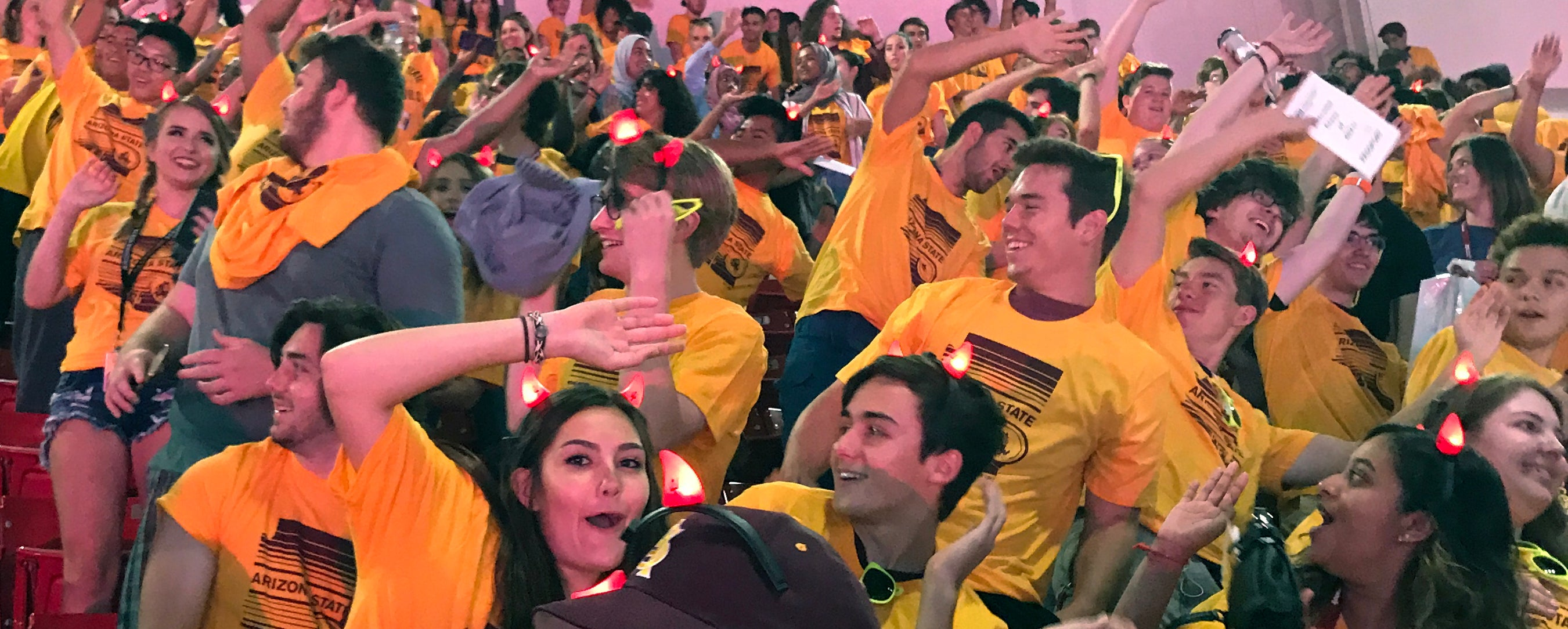 ASU College of Integrative Sciences and Arts students show their Sun Devil pride at 2017 Fall Welcome