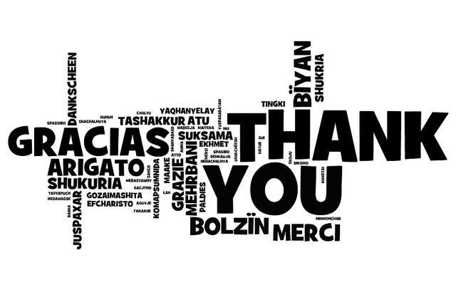 thank you in many languages, used courtesy of https://www.flickr.com/photos/wwworks/