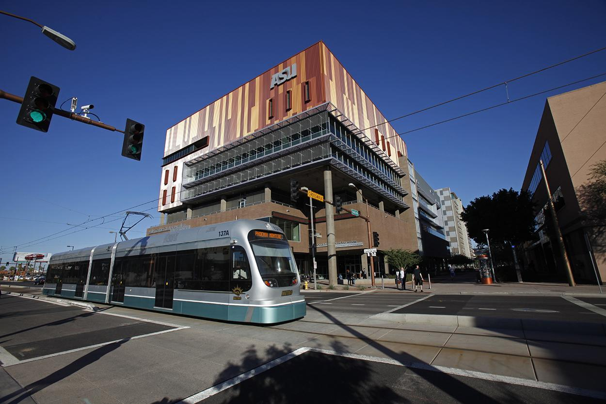 ASU Downtown Phoenix campus light rail
