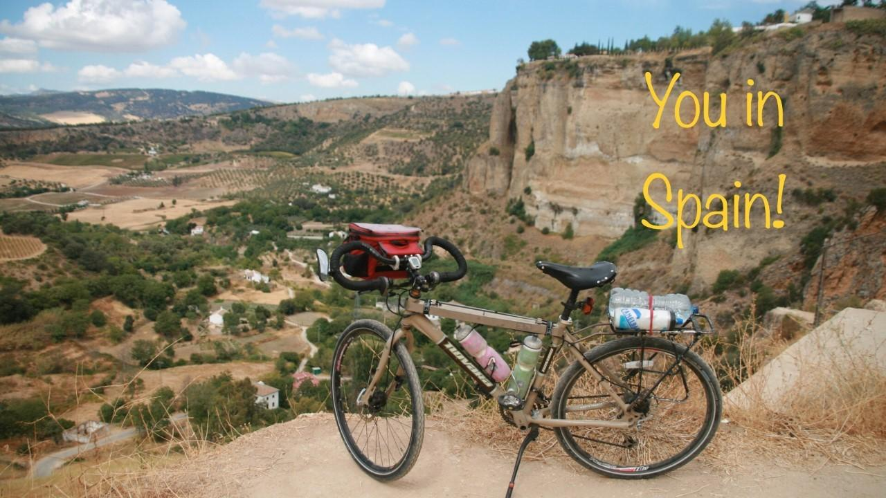 ASU study abroad and bike in Spain